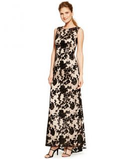 Vince Camuto Cutout Back Floral Lace Gown   Dresses   Women