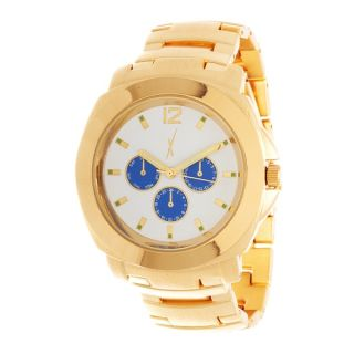 Xtreme Mens Gold Case and White Dial / Gold Strap Watch   17488378