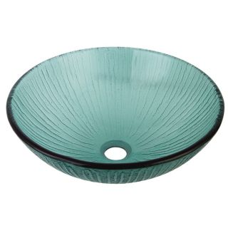 Kingston Brass Fauceture Glass Round Vessel Bathroom Sink