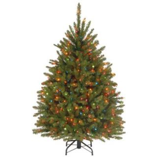 National Tree Company 4.5 ft. Dunhill Fir Artificial Christmas Tree with Multicolor Lights DUH 45RLO