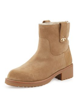 Tory Burch Wayland Fur Lined Boot, Camel