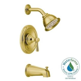 MOEN Kingsley Posi Temp 1 Handle Tub and Shower Trim Kit in Polished Brass (Valve Not Included) T2113EPP