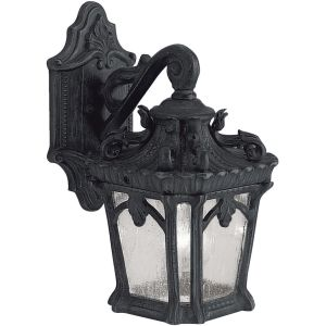 Kichler KIC 9355BKT Tournai Textured Black  Outdoor Sconce Lighting