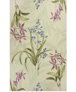 KAS Rugs Colonial 1823 Wild Flowers Area Rug   Ivory   Area Rugs