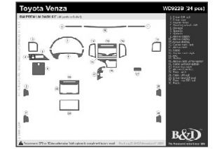 2009 2016 Toyota Venza Wood Dash Kits   B&I WD922B DCF   B&I Dash Kits