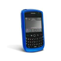 Eforcity Clear Sky Blue TPU Rubber Skin Case for Blackberry Curve 8900