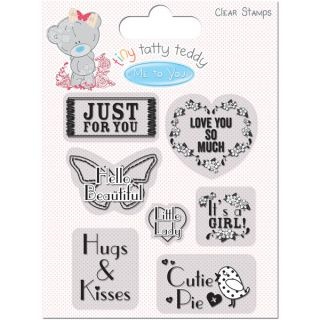 Tiny Tatty Teddy Clear StampsGirl Sentiment   17284832