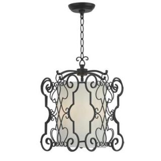World Imports Alistar 3 Light Rust Iron Pendant WI750342