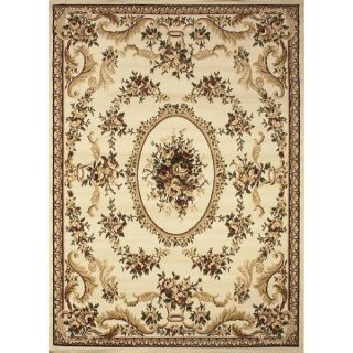 Safavieh Lyndhurst Collection Aubussons Sage/ Ivory Rug (53 x 76)