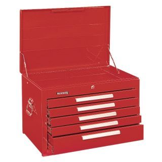 "KENNEDY Red Top Chest, 27"" Width x 18""  Depth x 18 3/8"" Height, Number of Drawers: 5   13R649