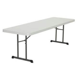 Lifetime 8 ft. L Professional Grade Folding Table in Almond 80250