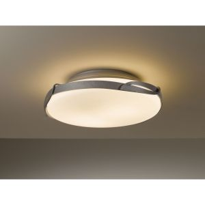 Hubbardton Forge HUB 126740 08 G97 Flora Burnished Steel  Semi Flush Mount Lighting
