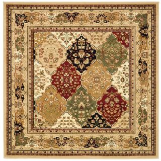 Safavieh Lyndhurst Multicolor and Black Square Indoor Machine Made Area Rug (Common 6 x 6; Actual 72 in W x 72 in L x 0.33 ft Dia)