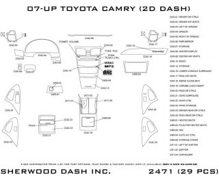 2007, 2008, 2009 Toyota Camry Wood Dash Kits   Sherwood Innovations 2471 CF   Sherwood Innovations Dash Kits