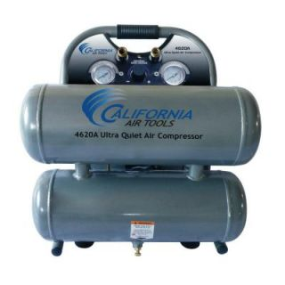 California Air Tools 4.6 Gal. 2 HP Ultra Quiet and Oil Free Aluminum Twin Tank Air Compressor 4620A