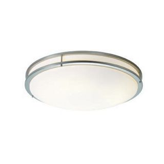 Access Lighting Saloris 23.25 in W Brushed Steel Ceiling Flush Mount Light