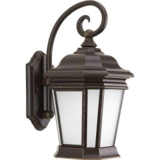 Progress Lighting Crawford Collection 1 Light Oil Rubbed Bronze Outdoor Wall Lantern P5686 108