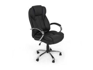 Best Choice Products PU Leather High Back Executive Office Chair with Metal Base