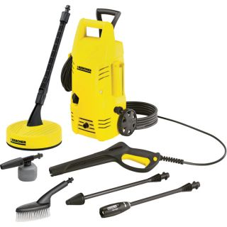 Karcher Electric Cold Water Pressure Washer — 1600 PSI, 1.25 GPM, Home Bundle Package, Model# K2.26 T50
