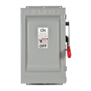 Siemens Heavy Duty 60 Amp 240 Volt 3 Pole Type 12 Fusible Safety Switch HF322J