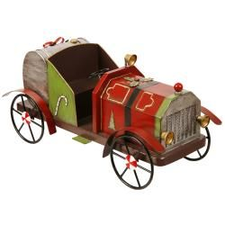 Antique Metal Holiday Fire Truck Figurine  ™ Shopping