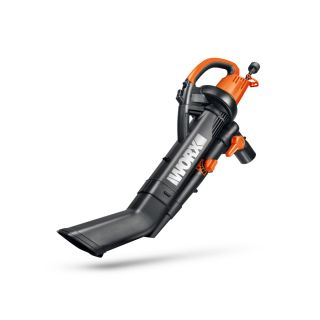 WORX Trivac 2.0 12 Amp 350 CFM 210 MPH Medium Duty Corded Electric Leaf Blower with Vacuum Kit