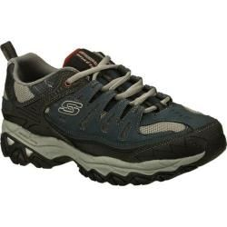 Mens Skechers After Burn Memory Fit Navy   16045538