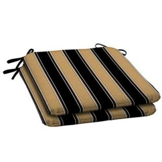 Hampton Bay Twilight Stripe with Roux Outdoor Seat Pad (2 Pack) AC30060X 9D2