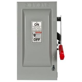 Siemens Heavy Duty 30 Amp 600 Volt 3 Pole Indoor Fusible Safety Switch with Neutral HF361N