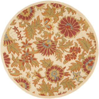 Safavieh Blossom Round White  Area Rug (Common 6 ft x 6 ft; Actual 6 ft x 6 ft)