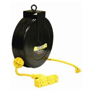 Reelcraft Light Duty Cord Reel with Triple Outlet   Hose & Cord Reels