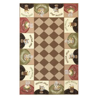 KAS Rugs Colonial 1812 Coffee Wake Up Call Area Rug   Area Rugs
