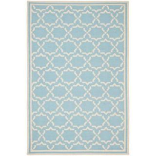 Safavieh Dhurries Light Blue/Ivory 5 ft. x 8 ft. Area Rug DHU545B 5