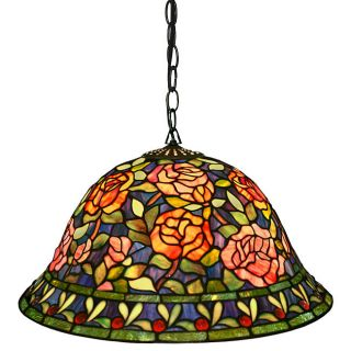 Warehouse of Tiffany Southern Belle Rose 2 Light Hanging Pendant