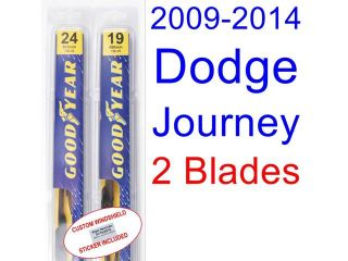 2009 2014 Dodge Journey Replacement Wiper Blade Set/Kit (Set of 2 Blades) (2010,2011,2012,2013)