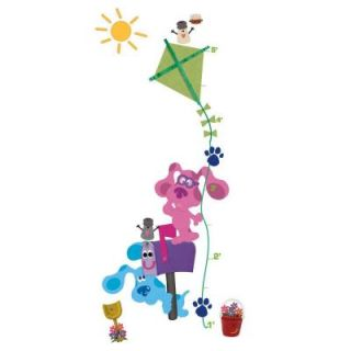 18 in. x 40 in. Blue's Clues 23 Piece Peel and Stick Growth Chart Wall Decals DISCONTINUED RMK1915GC