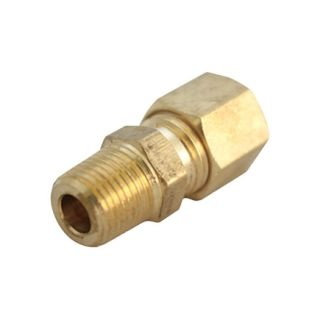 JMF 1/2 in. Comp x 3/4 in. MPT Yellow Brass 400 PSI Lead Free Compression Connector (4503371)   Brass Compression Fittings
