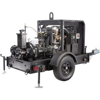 Generac Diesel Wet Prime Mobile Full Trash Pump — 1680 GPM, 6in. Ports, Tier 4 Final Approved, Model# 6961  Engine Driven Full Trash Pumps