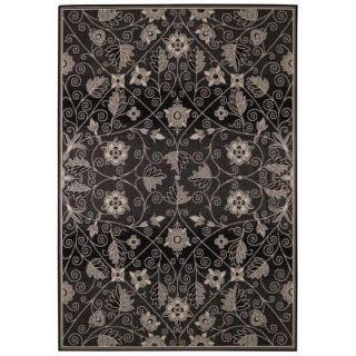 Capel Williamsburg Elsinore Garden Maze Ebony 7 ft. 10 in. x 11 ft. Area Rug 4699RS07101100350