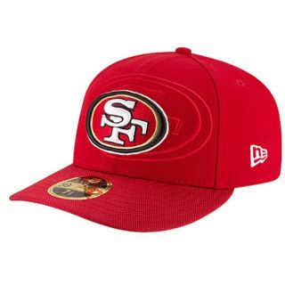 New Era NFL 59Fifty Sideline Low Profile Cap   Mens   Accessories   San Francisco 49ers   Red