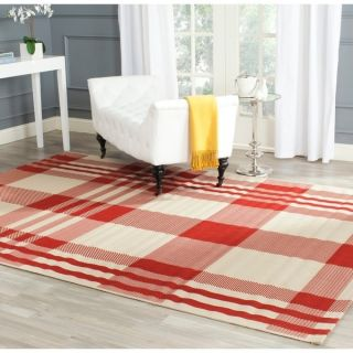 Safavieh Indoor/ Outdoor Courtyard Red/ Bone Rug (9 x 12)   15416559