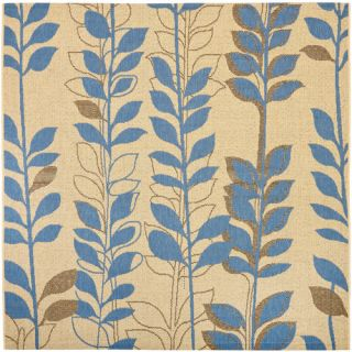 Courtyard Natural Brown / Blue Rug by Safavieh