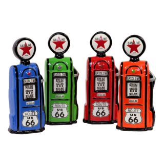 Urban Trends Ceramic Gas Station Pump 4 Piece Piggy Bank Set