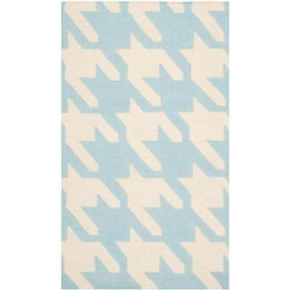 Safavieh Dhurries Light Blue/Ivory 3 ft. x 5 ft. Area Rug DHU570B 3