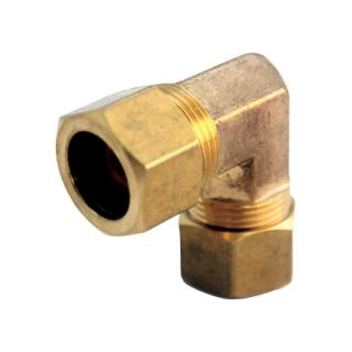 JMF 7/8 in. Comp x 7/8 in. Comp Yellow Brass 400 PSI Lead Free Compression Elbow (4503629)   Brass Compression Fittings