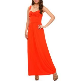 Miss Tina Womens Twisted Bodice Maxi Dress