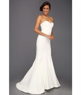 Nicole Miller Dakota Silk Faille Strapless Gown Ivory