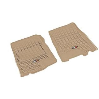 Rugged Ridge Floor Liner Front Pair Tan 2002 2003 Ford F150 Supercar 83902.05