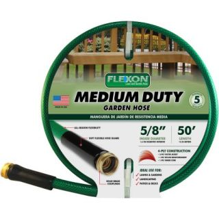Flexon 50 Medium Duty Garden Hose, Green