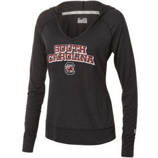Under Armour South Carolina Gamecocks Womens Lightweight V Neck Hooded Sweatshirt